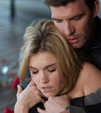 Pictured: (l-r) Emily Rose as Audrey Parker, Lucas Bryant as Nathan Wuornos -- (Photo by: Mike Tompkins/Syfy)