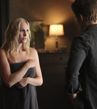 Pictured (L-R): Candice Accola as Caroline and Paul Wesley as Stefan -- Photo: Annette Brown/The CW