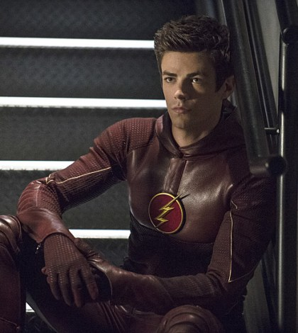 Pictured (L-R): Grant Gustin as The Flash -- Photo: Cate Cameron/The CW