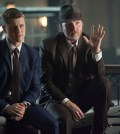 Detecitves James Gordon (Ben McKenzie, L) and Harvey Bullock (Donal Logue, R). Co. Cr: Jessica Miglio/FOX