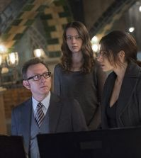 Pictured left to right: Michael Emerson, Amy Acker and Sarah Shahi Photo: John Paul Filo/CBS