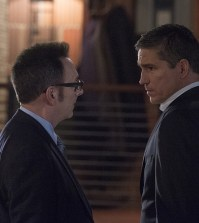 Pictured left to right: Michael Emerson and Jim Caviezel Photo: John Paul Filo/CBS