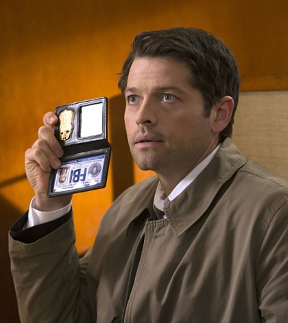 Pictured: Behind the scenes with Misha Collins as Castiel -- Photo: Katie Yu/The CW