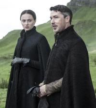 Sophie turner as Sansa Stark and Aidan Gillen as Littlefinger. Image © HBO