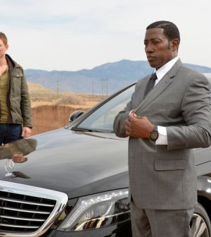 Pictured: (l-r) Philip Winchester as Alex King, Wesley Snipes as Johnson -- (Photo by: Gregory Peters/NBC)