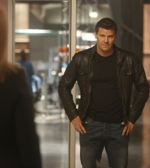 "BONES:  Booth (David Boreanaz) in the Season Finale ""The End in the End"" episode of BONES airing Thursday, June 11 (8:00-9:00 PM ET/PT) on FOX.  ©2015 Fox Broadcasting Co.  Cr:  Jordin Althaus/FOX"