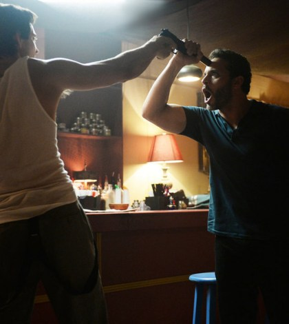 Pictured: (l-r) Rhys Coiro as Ari, Daniel Sunjata as Paul Briggs -- (Photo by: Jeff Daly/USA Network)
