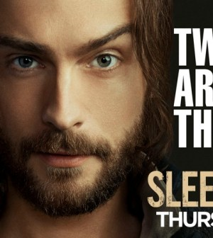 Tom Mison and Tom Mison's eyebrow as Ichabod Crane. Image © FOX