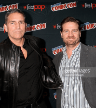 Pictured (l-r) Jim Caviezel and Greg Plageman at New York ComicCon 2015. Photo by Laura Cavanaugh/Getty Images