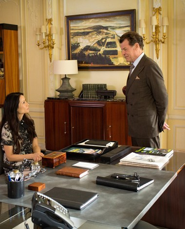 Pictured (l-r) Lucy Liu as Joan Watson and John Noble as Mr. Morland Holmes Photo: Tom Concordia/CBS
