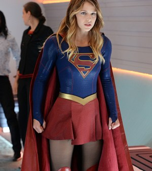 Melissa Benoist as Supergirl. Photo: Darren Michaels/Warner Bros. Entertainment Inc.