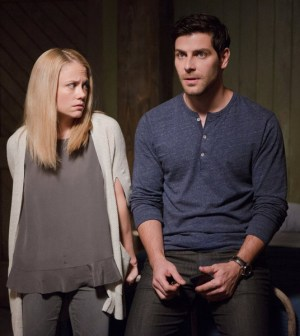 Pictured: (l-r) Claire Coffee as Adalind Schade, David Giuntoli as Nick Burkhardt -- (Photo by: Scott Green/NBC)