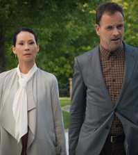 Pictured (L-R)  Lucy Liu  as Joan Watson and  Jonny Lee Miller  as Sherlock Holmes  Photo: Michael Parmelee/ CBS ©2015 CBS Broadcasting Inc. All Rights Reserved.
