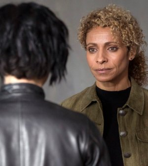 """BLINDSPOT -- """"Why Let Cooler Pasture Deform"""" Episode 209 -- Pictured: Michelle Hurd as Shepherd -- (Photo by: Virginia Sherwood/NBC)"""