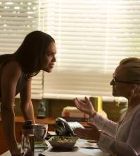 "LUCIFER: L-R: Lesley-Ann Brandt and Rachael Harris in the ""Stewardess Interruptus"" episode of LUCIFER 