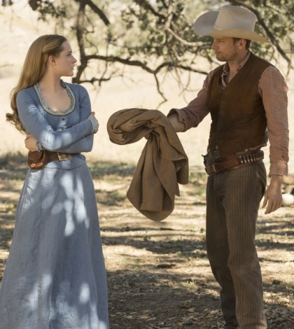Evan Rachel Wood as Dolores and Jimmi Simpson as William | Photo credit John P. Johnson/HBO