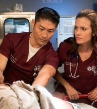Pictured: (l-r) Brian Tee as Ethan Choi, Torrey DeVitto as Natalie Manning -- (Photo by: Elizabeth Sisson/NBC)