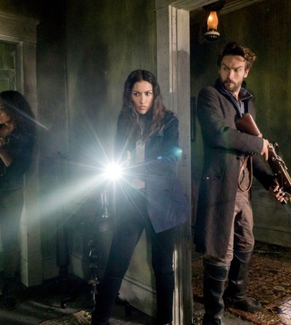 "SLEEPY HOLLOW: (L-R) Lyndie Greenwood, Janina Gavankar and Tom Mison in the ""In Plain Sight"" episode of SLEEPY HOLLOW 