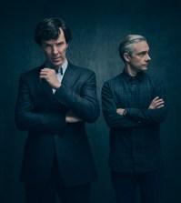 Sherlock Season 4 -- Pictured: Benedict Cumberbatch as Sherlock Holmes and Martin Freeman as John Watson. Photo credit Masterpiece PBS