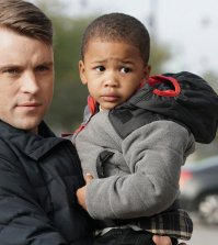 Pictured: (l-r) Jesse Spencer as Matthew Casey, Aiden/Austin Cohen as Louie -- (Photo by: Elizabeth Morris/NBC)