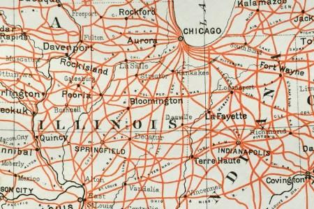 antique map united states railroad map (1884) scrmshaw