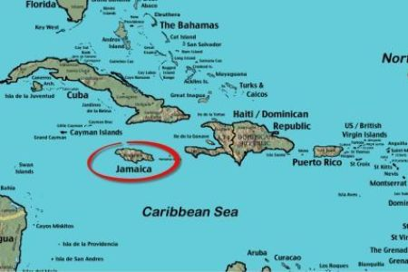 map of jamaica circled 2a