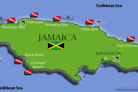jamaican map