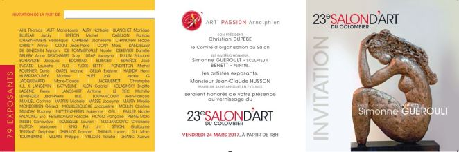 SALON D'ART DU COLOMBIER SAINT ARNOULT EN YVELINES 2017 INVITATION a