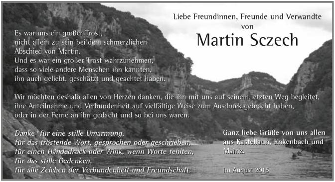 Traueranzeigen Martin Sczech
