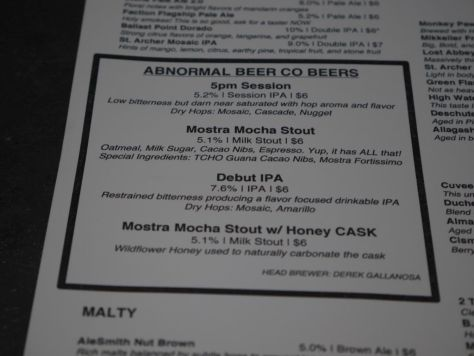 Selection of house beers available.