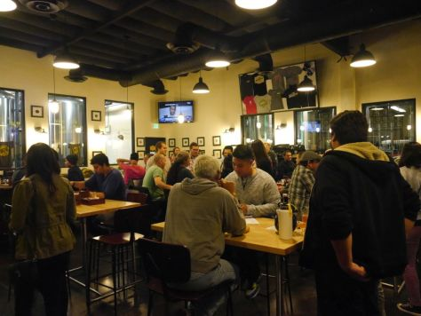The tasting room was packed as expected!