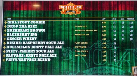 Beer list part 1.
