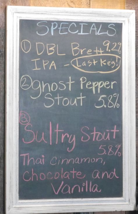 Specialty beer menu when I visited.