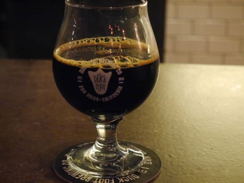 8 ounce pour of the Imperial Stout.