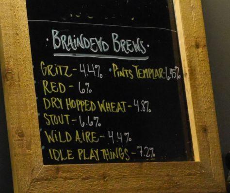 Braindead Tap List Part 1.