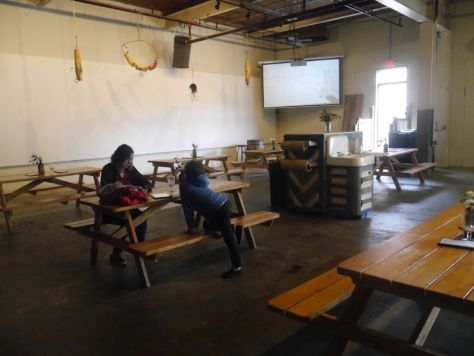 Plenty of indoor seating.