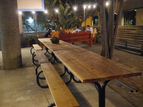 Great outdoor seating area for the warmer months.