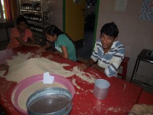 Uitzoeken van de rijst