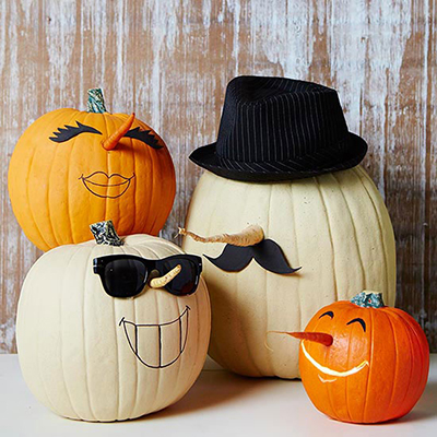 Squishy Dares Ideas : 7 Awesome no-carve pumpkin decorating ideas! No knives required! - Seacoast Kids Calendar
