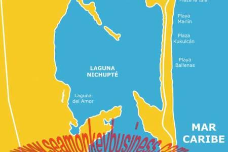 Map Playa Del Carmen Cancun - Cancun hotel zone map