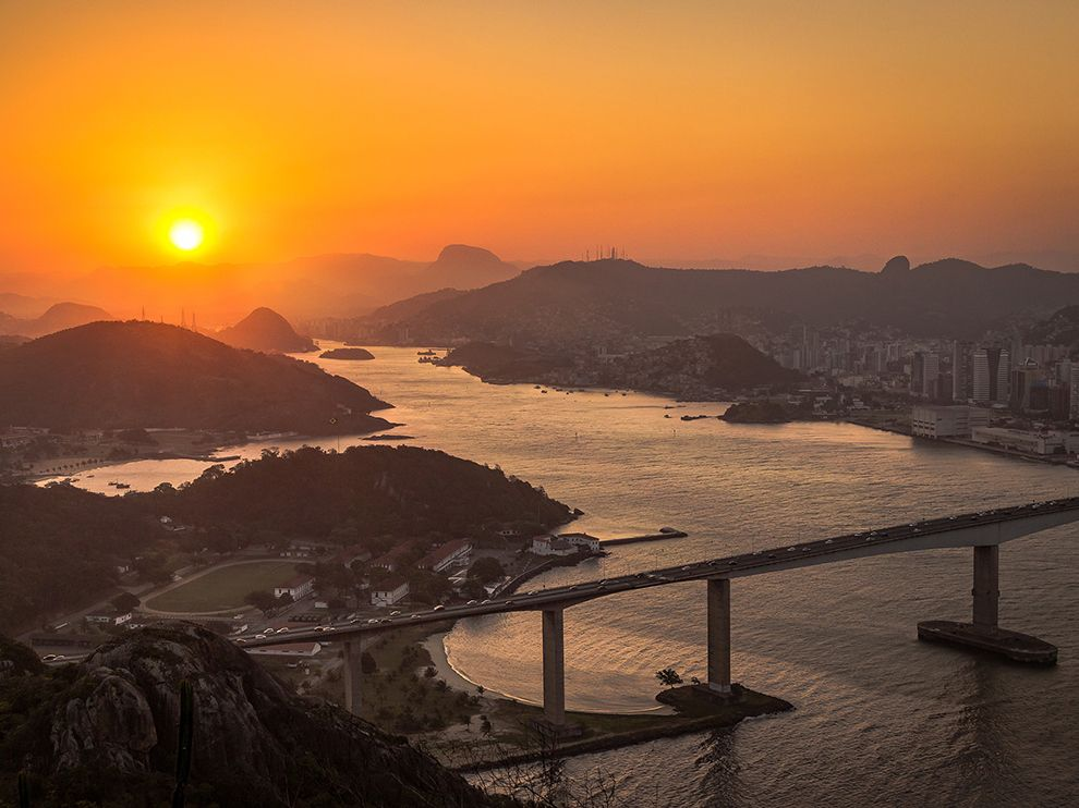 Pôr do sol de Vitória, ES, no National Geographic | Seara News