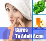 7 Cures To Adult Acne