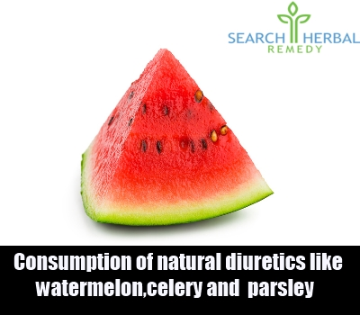 consumption of natural diuretics