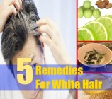 5 Remedies For White Hair