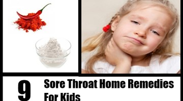 Sore Throat Home Remedies For Kids