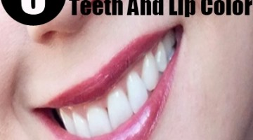teeth and lip color