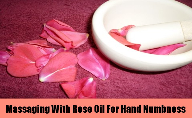Massaging With Rose Oil