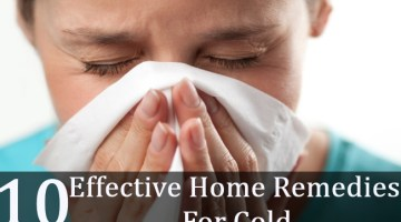 10 Effective Home Remedies For Cold
