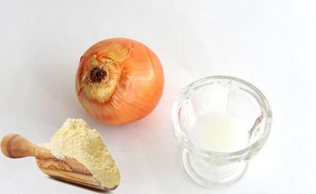 Onion Juice And Wheat Gram