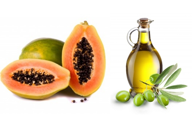Ripe Papaya And Olive Oil